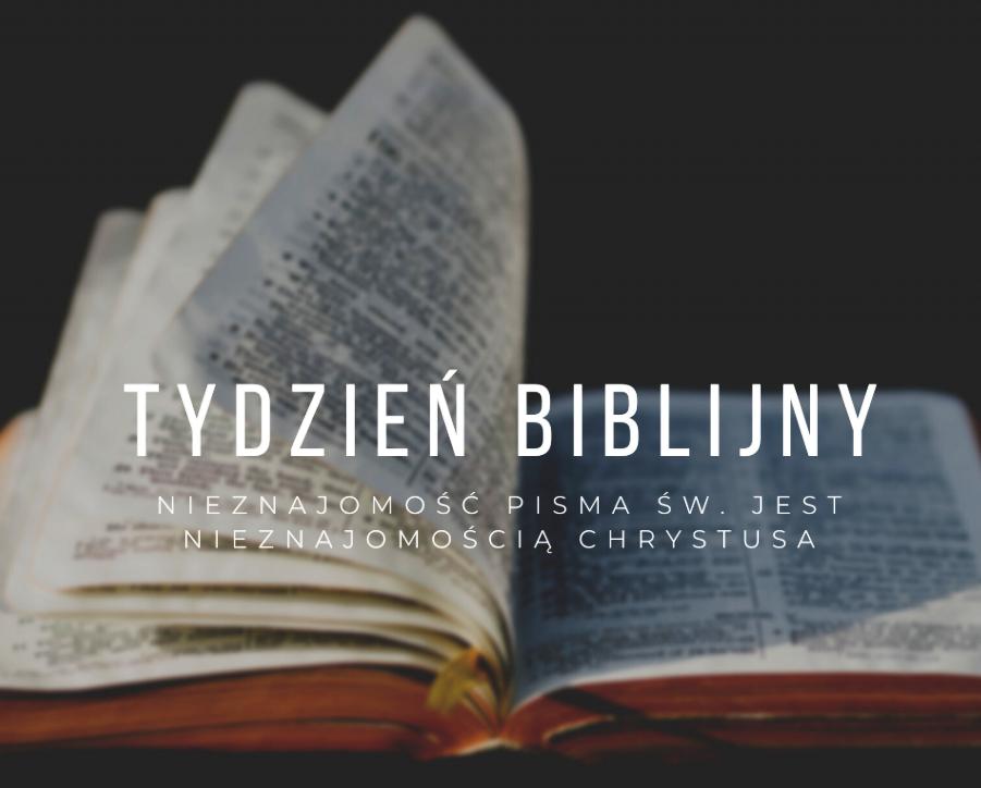 Tydzień Biblijny (18.04.2021)